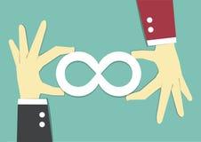 Infinity cooperation Stock Photo