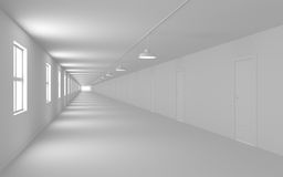 Infinity corridor Royalty Free Stock Images