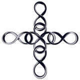 Infinity_cross Fotografia de Stock Royalty Free