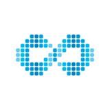 infinity dot logotype theme  Stock Photography