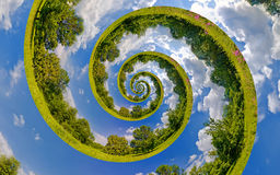 Infinity Earth. Infinity Planet. Ecology and environment conservation concept Stock Photos
