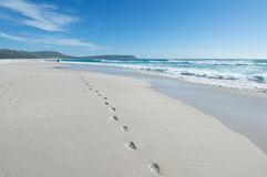Infinity footsteps Royalty Free Stock Photos