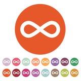 The infinity icon. Infinity symbol. Flat Stock Image