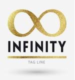Infinity logo in golden Stock Image