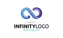 Infinity Logo. Minimalist and modern infinity logo template. Simple work and adjusted to suit your needs Royalty Free Stock Photo