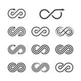 Infinity Logo Template Set. Infinite Symbol Icon Collection.   Royalty Free Stock Photos