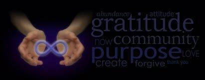 Infinity Meditation Website Banner Stock Images