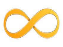 Infinity. Orange infinity symbol on white background Royalty Free Stock Images