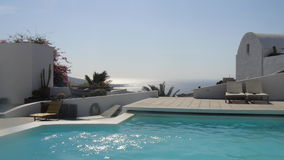 Infinity Pool in Akrotiri, Santorini Royalty Free Stock Photo
