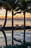 Infinity pool at dawn Royalty Free Stock Photos