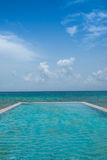 Luxury Hotel Infinity pool Royalty Free Stock Photography
