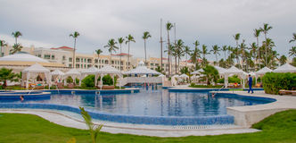 Infinity Pool at luxury resort in Dominican Republic Stock Photography