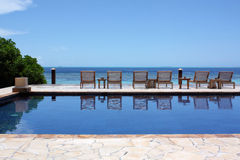 Infinity pool Maldives Stock Photography