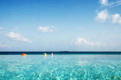 Infinity Pool in Maldives Beauty In Nature Concept Stock Photos