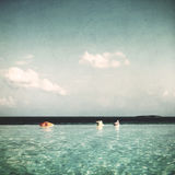 Infinity Pool in Maldives Beauty In Nature Concept Stock Photo