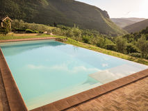 Infinity pool in the mountains Stock Photo