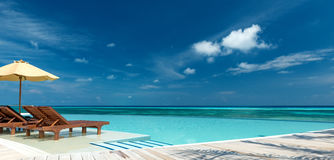 Infinity Pool Panorama Royalty Free Stock Image