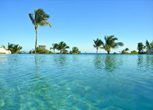 Infinity Pool Punta Cana Resort Royalty Free Stock Images