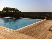 Infinity pool at a resort in Texas. Infinity pool at a resort in the Texas Hill Country Stock Photography
