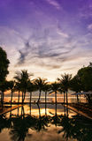 Infinity Pool sunrise Royalty Free Stock Images