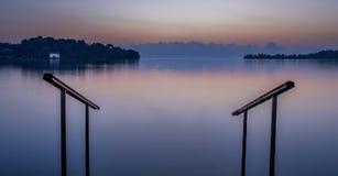The infinity pool!. Sunrise on Gouvia Bay In Corfu Greece Europe Ionian Islands Royalty Free Stock Image