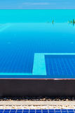 Infinity pool. In the tropical island, selective focus Royalty Free Stock Photos