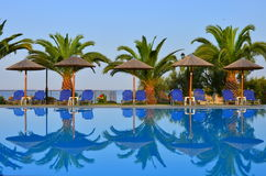 Infinity pool - tropical scene Stock Photography