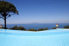 Infinity Pool with View Stock Photo