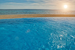 Infinity Pool View Royalty Free Stock Photo