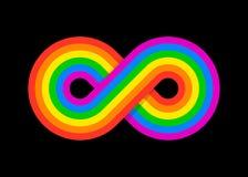 Infinity rainbow design illustration Royalty Free Stock Image