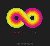 Infinity rainbow logo template Royalty Free Stock Photo