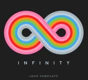 Infinity rainbow logo template Royalty Free Stock Photography