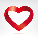 Infinity ribbon heart vector design element Royalty Free Stock Photos