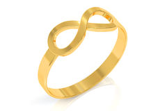 Infinity ring, 3D rendering Stock Photography