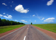Infinity road. Under blue sky Royalty Free Stock Images