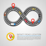 Infinity Road location Royalty Free Stock Photography