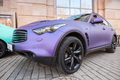 Infinity Rx 37 Car With Purple Matte Paintings Stock Images