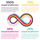 Infinity shape for infographics Royalty Free Stock Image