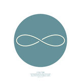 Infinity sign. From the colored stripes of tape. emblem endless. The concept of eternity. logo Stock Photography