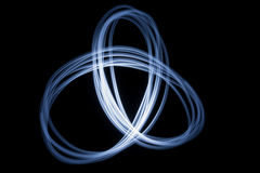 Infinity sign. Infinity neon neon symbol on a black background, abstract art, picture light royalty free stock photo
