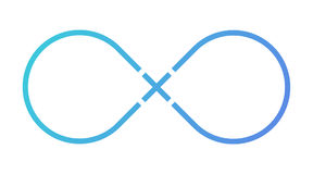 Infinity sign. Plus sign. Blue gradient. Vector isolated. Illustration. Light background. Eps10 stock illustration