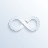Infinity sign with shadow Stock Images