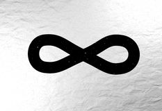 Infinity sign with universe stars 3d illustration Royalty Free Stock Image