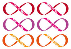 Infinity sign, vector set Stock Images