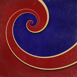 Infinity spiral grunge background. Red and blue infinity spiral grunge striped background royalty free illustration