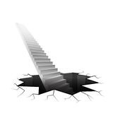 Infinity staircase rising from cracked ground Stock Photography