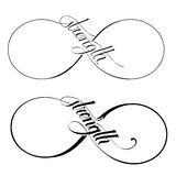 Infinity Strength. Icon vector symbol in two versions stock illustration