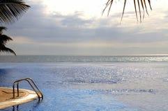 Infinity swimming pool Royalty Free Stock Photos