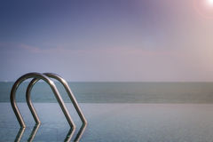 Infinity Swimming Pool Stock Photo
