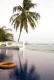 Infinity swimming pool Corn Island Nicaragua Royalty Free Stock Images